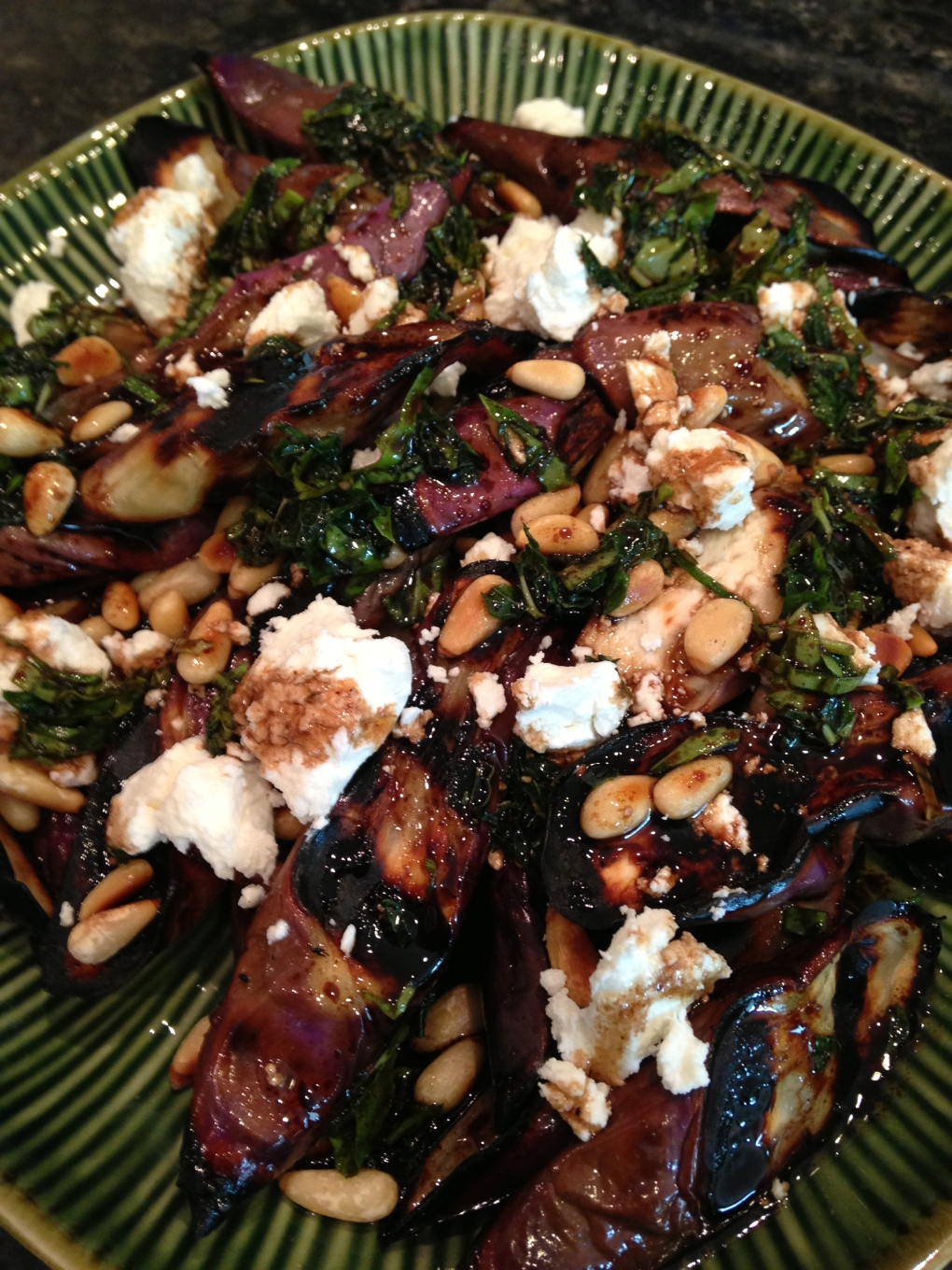 Grilled Eggplant & Goat Cheese Salad